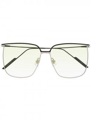 Солнцезащитные очки в квадратной оправе Gentle Monster. Цвет: черный