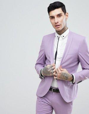 Сиреневый облегающий пиджак Wedding-Фиолетовый Noose & Monkey