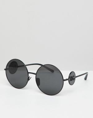 Круглые солнцезащитные очки -Черный Dolce & Gabbana