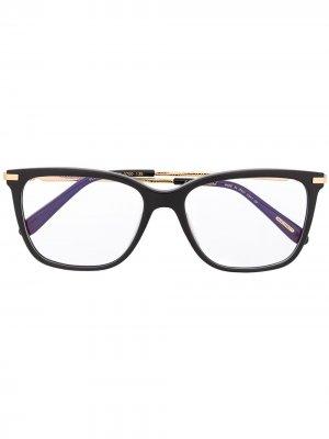 Очки в декорированной квадратной оправе Chopard Eyewear. Цвет: черный