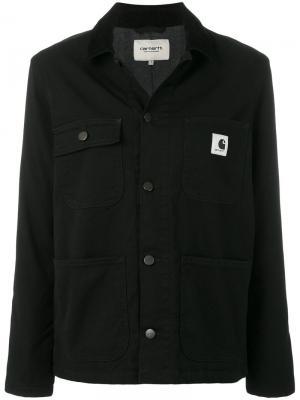 Джинсовая куртка с логотипом Carhartt. Цвет: чёрный