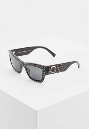 Очки солнцезащитные Versace VE4358 GB1/87. Цвет: черный