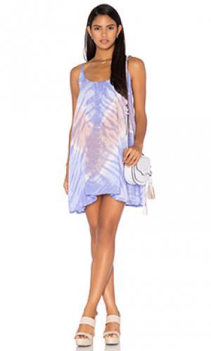 Мини платье stud Tiare Hawaii. Цвет: фиолетовый
