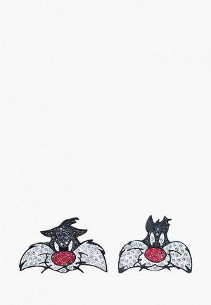 Запонки Swarovski® Looney Tunes. Цвет: разноцветный