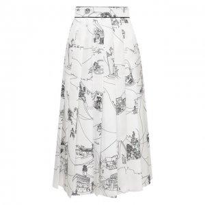 Шелковая юбка Emilio Pucci. Цвет: чёрно-белый