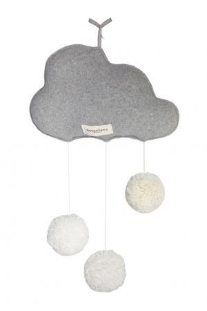 Декор для кроватки «Облачко с помпонами» Moonsters. Цвет: серый
