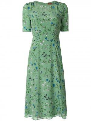 Платье Sylvia с цветочным принтом Altuzarra. Цвет: зеленый