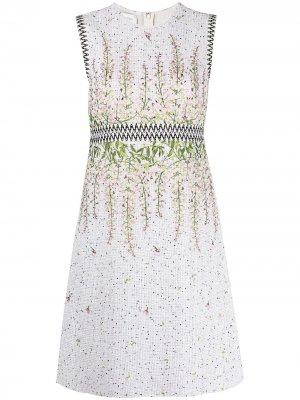 Платье с цветочной вышивкой Giambattista Valli. Цвет: белый
