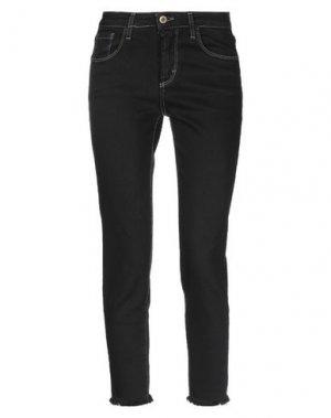 Джинсовые брюки-капри ..,MERCI. Цвет: черный