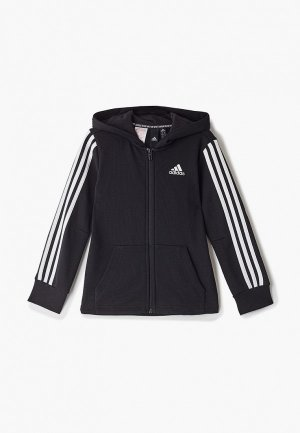 Толстовка adidas YB MH 3S FZ. Цвет: черный