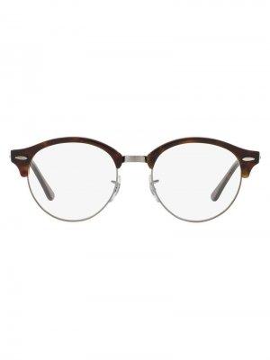 Óculos De Grau ClubRound RB4246V Ray-Ban. Цвет: коричневый