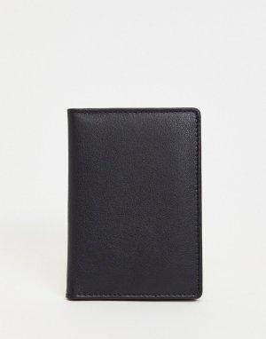 Кожаная обложка для паспорта -Черный цвет Urbancode