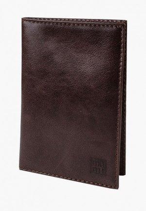Обложка для паспорта Mumi. Цвет: коричневый
