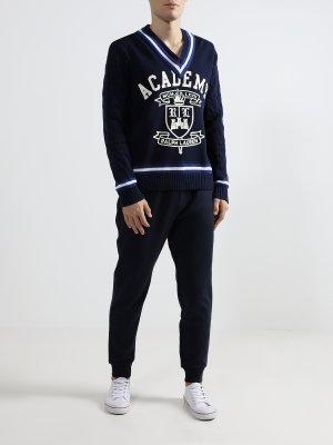 Мужской пуловер Polo Ralph Lauren. Цвет: siniy