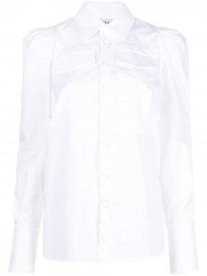 Поплиновая рубашка с длинными рукавами Dice Kayek. Цвет: белый