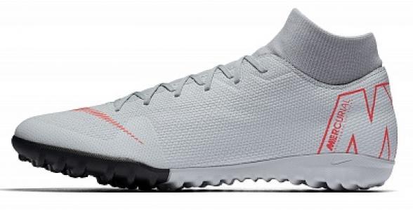 Бутсы мужские SuperflyX 6 Academy TF, размер 44 Nike. Цвет: серый
