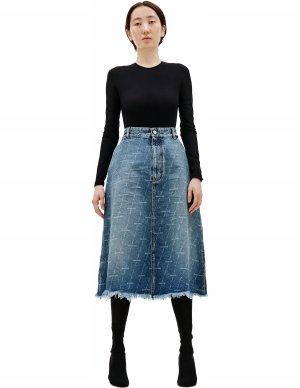 Джинсовая юбка с логотипом Balenciaga