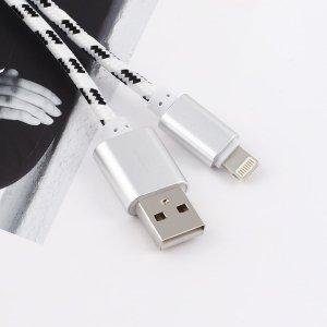 1шт плетеный кабель для передачи данных iPhone SHEIN. Цвет: белые