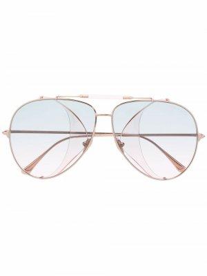Солнцезащитные очки-авиаторы TOM FORD Eyewear. Цвет: розовый