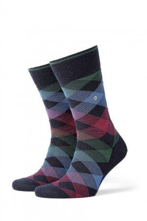 Разноцветные носки Newcast Burlington. Цвет: синий