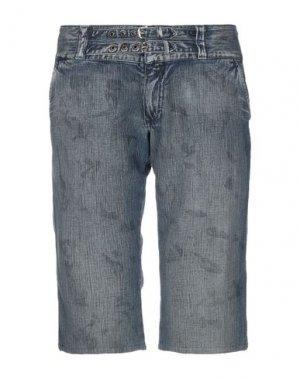 Джинсовые брюки-капри 55DSL. Цвет: синий