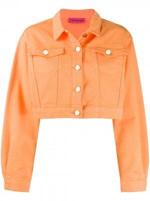 Укороченная джинсовая куртка IRENEISGOOD. Цвет: оранжевый