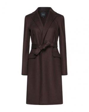 Пальто THEORY. Цвет: темно-коричневый