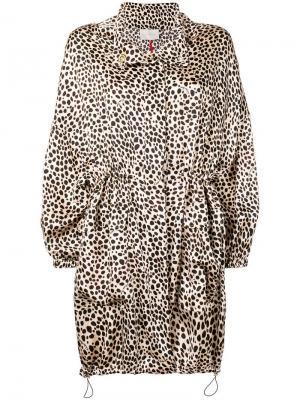 Пальто с леопардовым узором L'Autre Chose. Цвет: бежевый