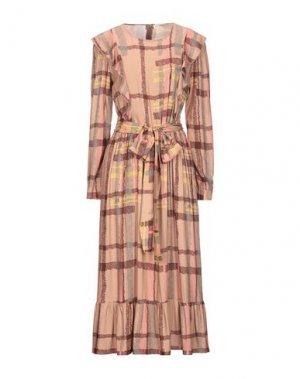 Платье длиной 3/4 LA FABRIQUE. Цвет: телесный