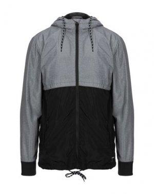 Куртка ETNIES. Цвет: серый