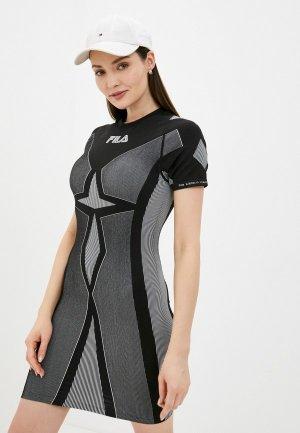 Платье Fila. Цвет: серый