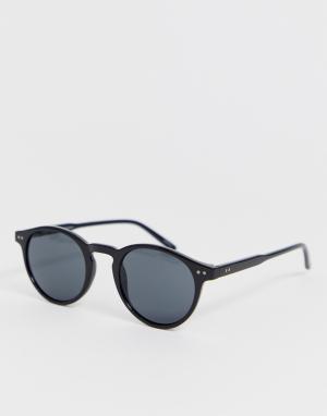 Черные солнцезащитные очки в стиле ретро eco friendly-Черный Selected Homme
