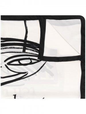 Платок с принтом Martine Rose. Цвет: черный