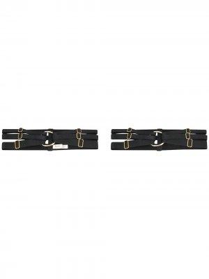 Два пояса-портупеи Merida с ремешками Bordelle. Цвет: черный