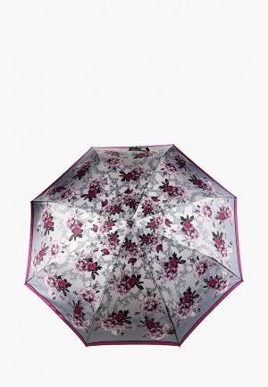 Зонт складной Fabretti. Цвет: серый