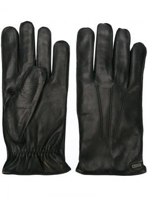 Перчатки с простроченной отделкой Dolce & Gabbana. Цвет: чёрный