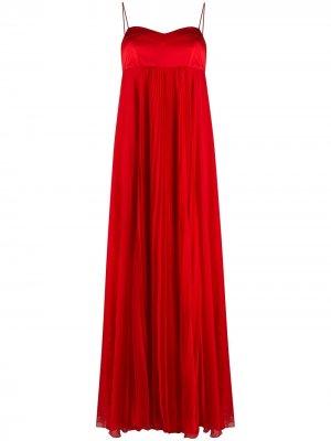 Длинное платье в стиле ампир Pinko. Цвет: красный