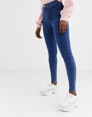 Выбеленные зауженные джинсы Topshop