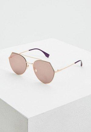 Очки солнцезащитные Fendi FF 0194/S DDB. Цвет: золотой