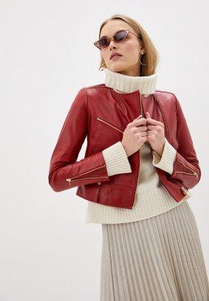 Куртка кожаная Liu Jo. Цвет: бордовый