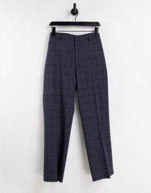 Серые брюки классического кроя в клетку «принц уэльский» Burton-Серый Burton Menswear