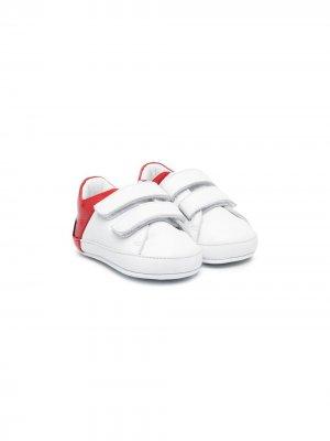 Кроссовки на липучках Balmain Kids. Цвет: белый