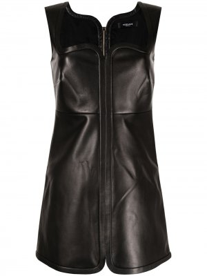 Платье на молнии с вырезом в форме сердца Versace. Цвет: черный