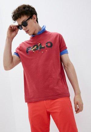Футболка Polo Ralph Lauren. Цвет: красный