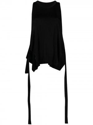 Топ без рукавов с завязками на талии MM6 Maison Margiela. Цвет: черный