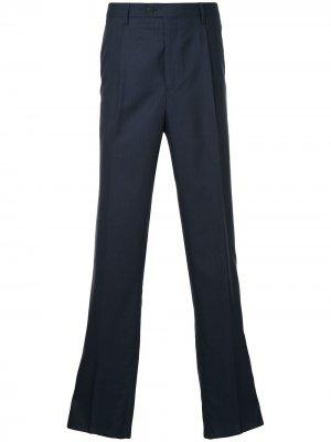Классические брюки строгого кроя Gieves & Hawkes. Цвет: синий