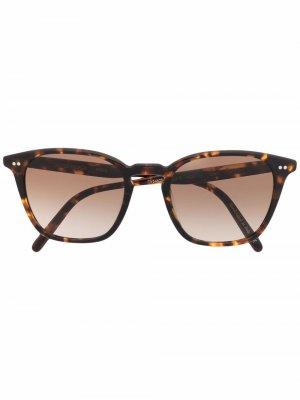 Солнцезащитные очки Frere NY в оправе кошачий глаз Oliver Peoples. Цвет: коричневый