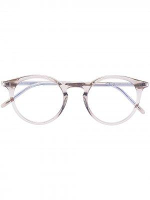 Очки SL347 Saint Laurent Eyewear. Цвет: коричневый