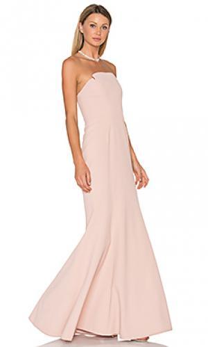Вечернее платье без бретелек JILL STUART. Цвет: румянец