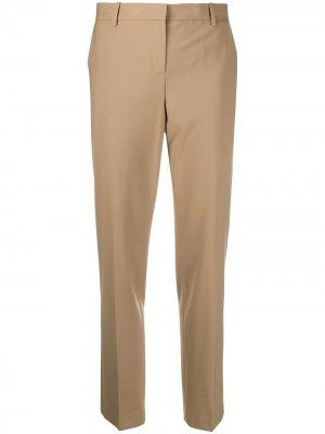 Зауженные брюки с завышенной талией Theory. Цвет: нейтральные цвета